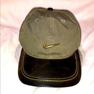 Nike Golf Hat Leather & Canvas/Cotton
